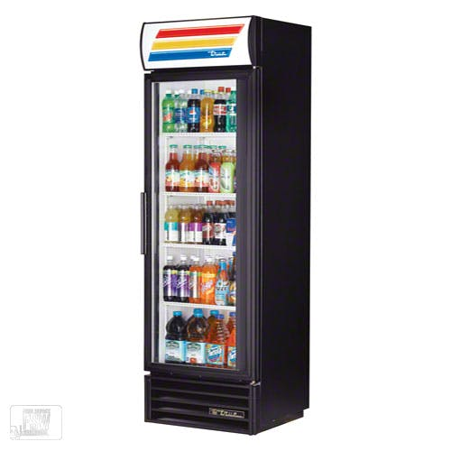 "True - TVM-400 25"" Swing Glass Door Merchandiser Refrigerator Commercial refrigerator sold by Food Service Warehouse"