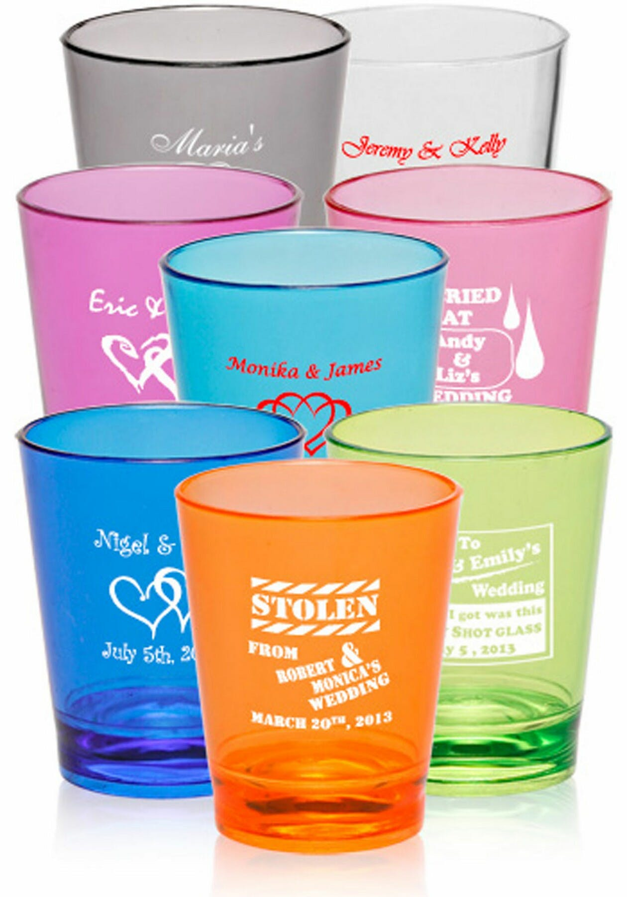 1.5 Oz. Plastic Shot Glasses (Item # WGLKP-IYXWM) Shot glass sold by InkEasy