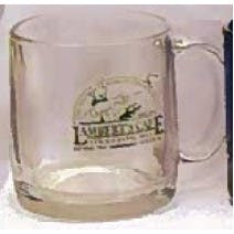 12 oz Clear Glass Coffee Mug
