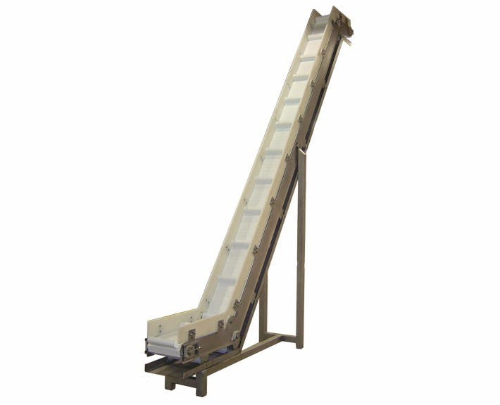 Incline Conveyor with Flights Conveyor sold by Fusion Tech Integrated Inc.