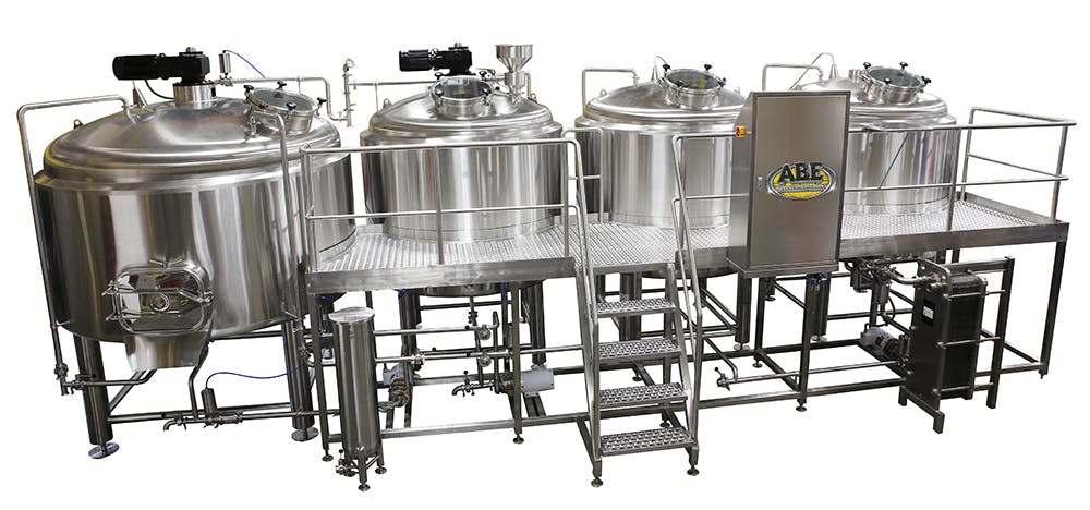 20 bbl 4 Vessel Auto Brewhouse  Brewhouse sold by American Beer Equipment
