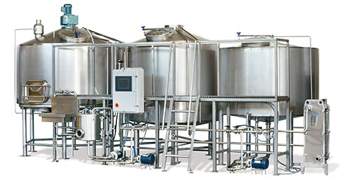 20bbl Brewhouse with a Brewkettle, Mash/Lauter Tun and Whirlpool Brewhouse sold by Global Stainless Systems Inc.