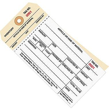 Inventory tag Hang tag sold by Ameripak, Inc.