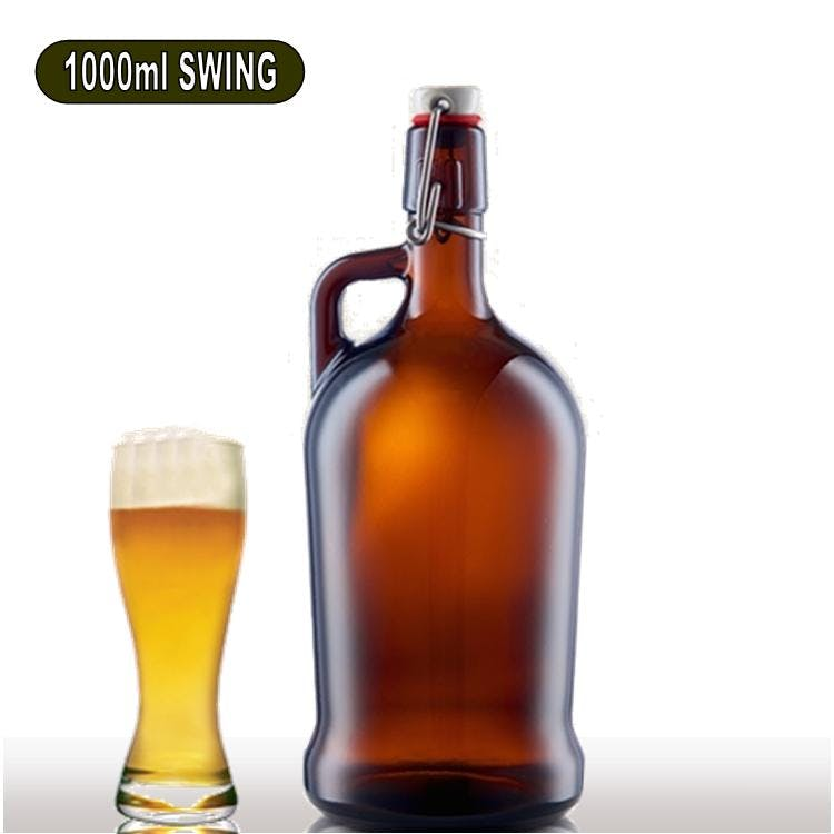 1 Liter Flip Top Growler sold by Wholesale Bottles USA