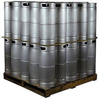 Kegco Pallet of 50 Kegs - 5 Gallon Commercial Keg with Drop-In D System Sankey Valve Model:50X-KEG5-DI Keg sold by Beverage Factory