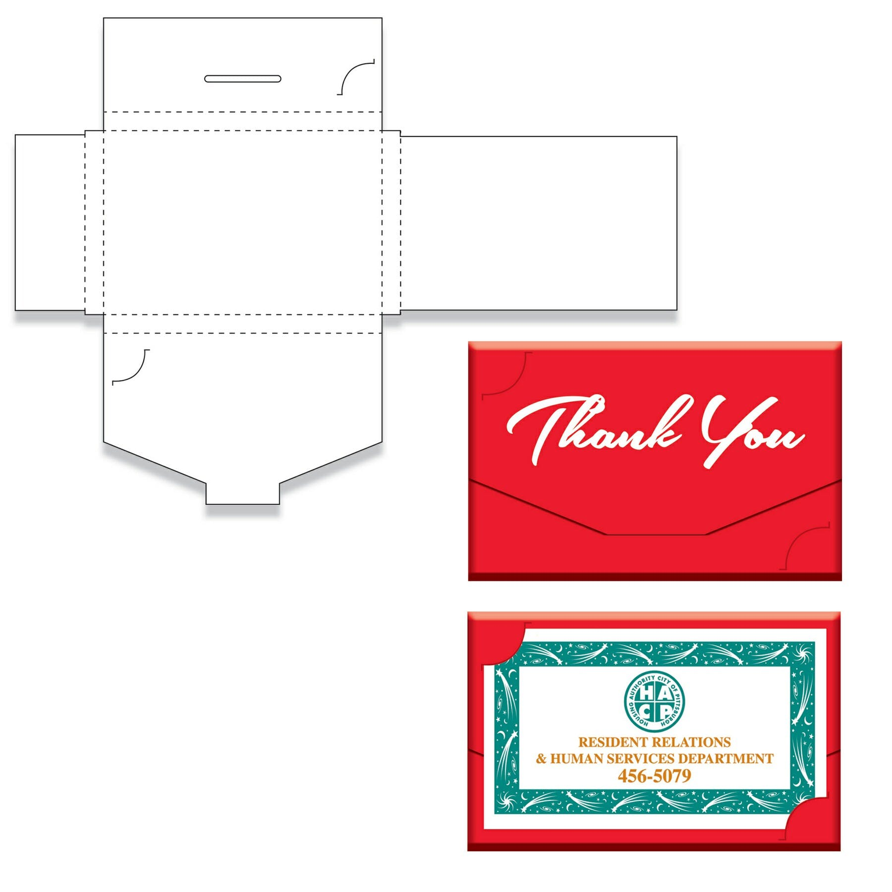 Thank You Gift Card Box (Item # NHKMT-JJCMQ) Custom packaging sold by InkEasy