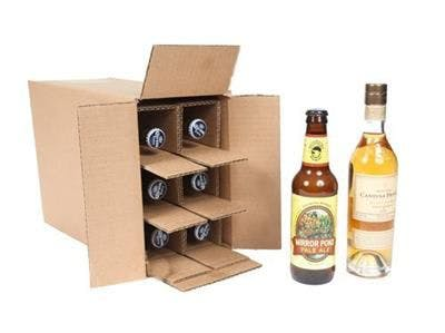 Six Bottle - 375 ml Wine, Spirits, Beer & Small Bottle Shipper Wine shipper sold by SpiritedShipper