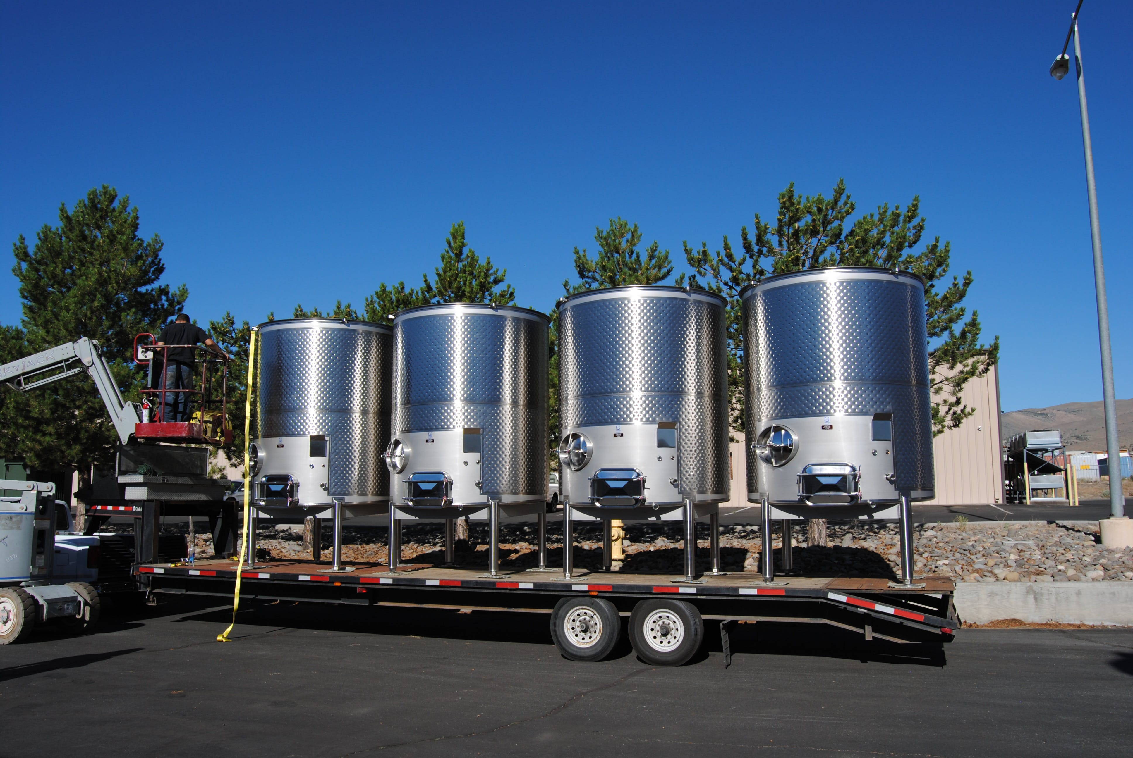 Variety of Winery Tanks Wine tank sold by Silver State Stainless
