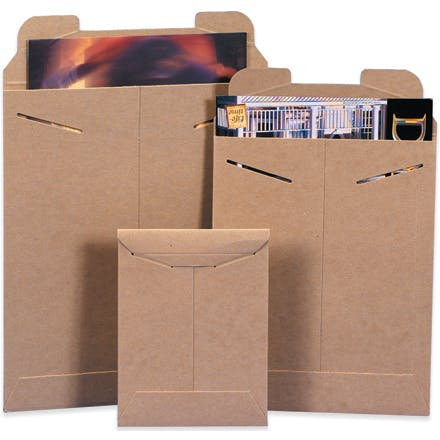 Kraft Flat Mailers Kraft packaging sold by Ameripak, Inc.