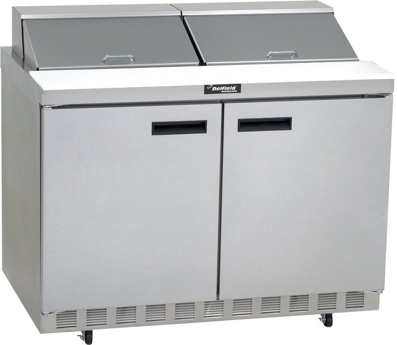 "Delfield 2-Door Mega Top Sandwich/Salad Prep Table (48"" wide) Food prep table sold by pizzaovens.com"