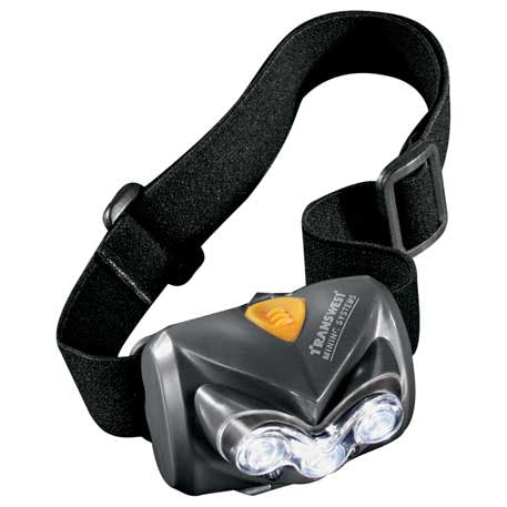 Insight Luxeon LED Pivoting Headlamp - 1225-79 - Leeds Promotional flashlight sold by Distrimatics, USA