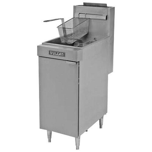 Vulcan LG400 Economy Fryer, 45 - 50 lb Capacity, 15-1/2 W, Gas Commercial fryer sold by Mission Restaurant Supply