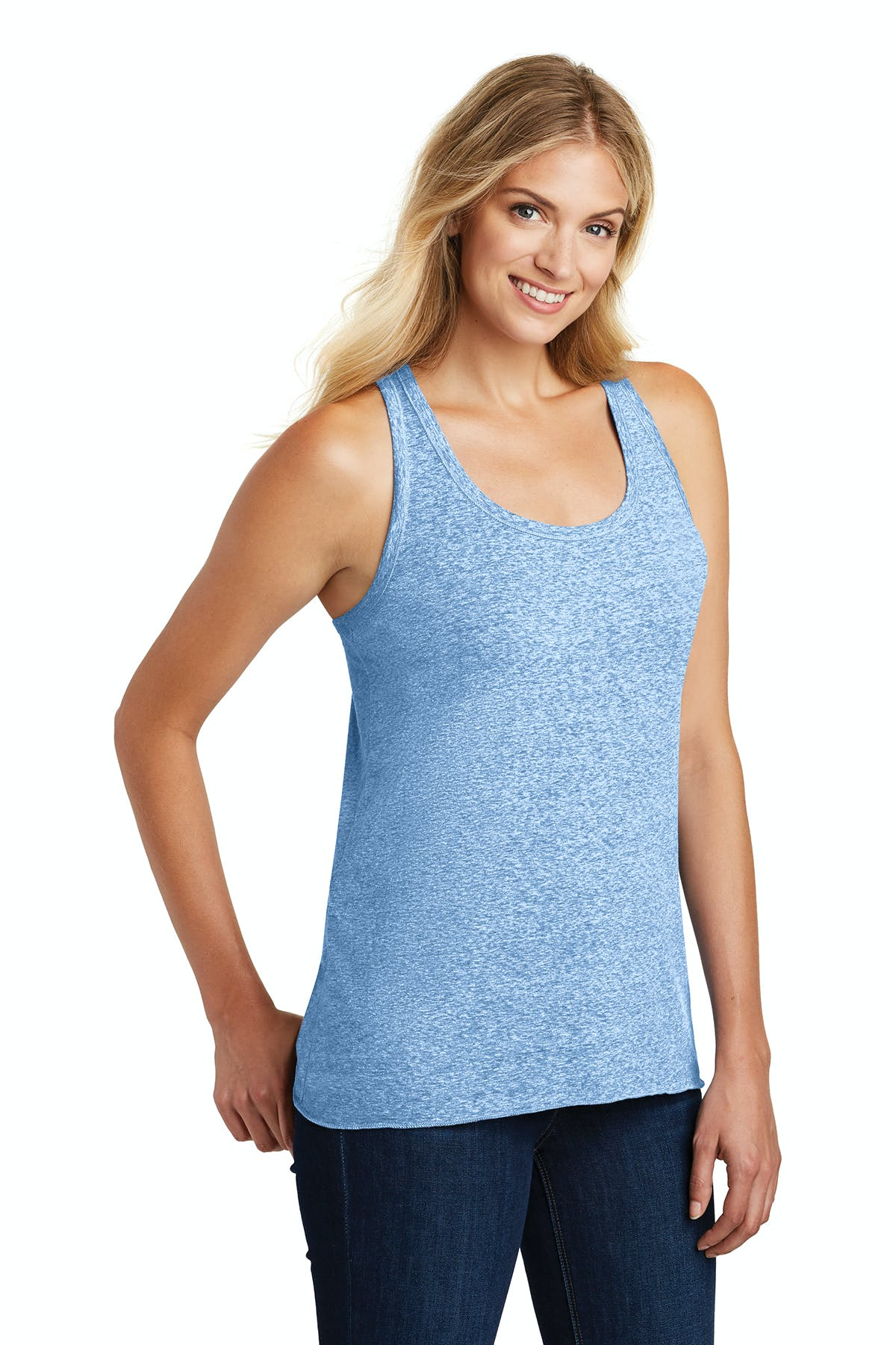 District Made® Ladies Cosmic Twist Back Tank - sold by PRINT CITY GRAPHICS, INC