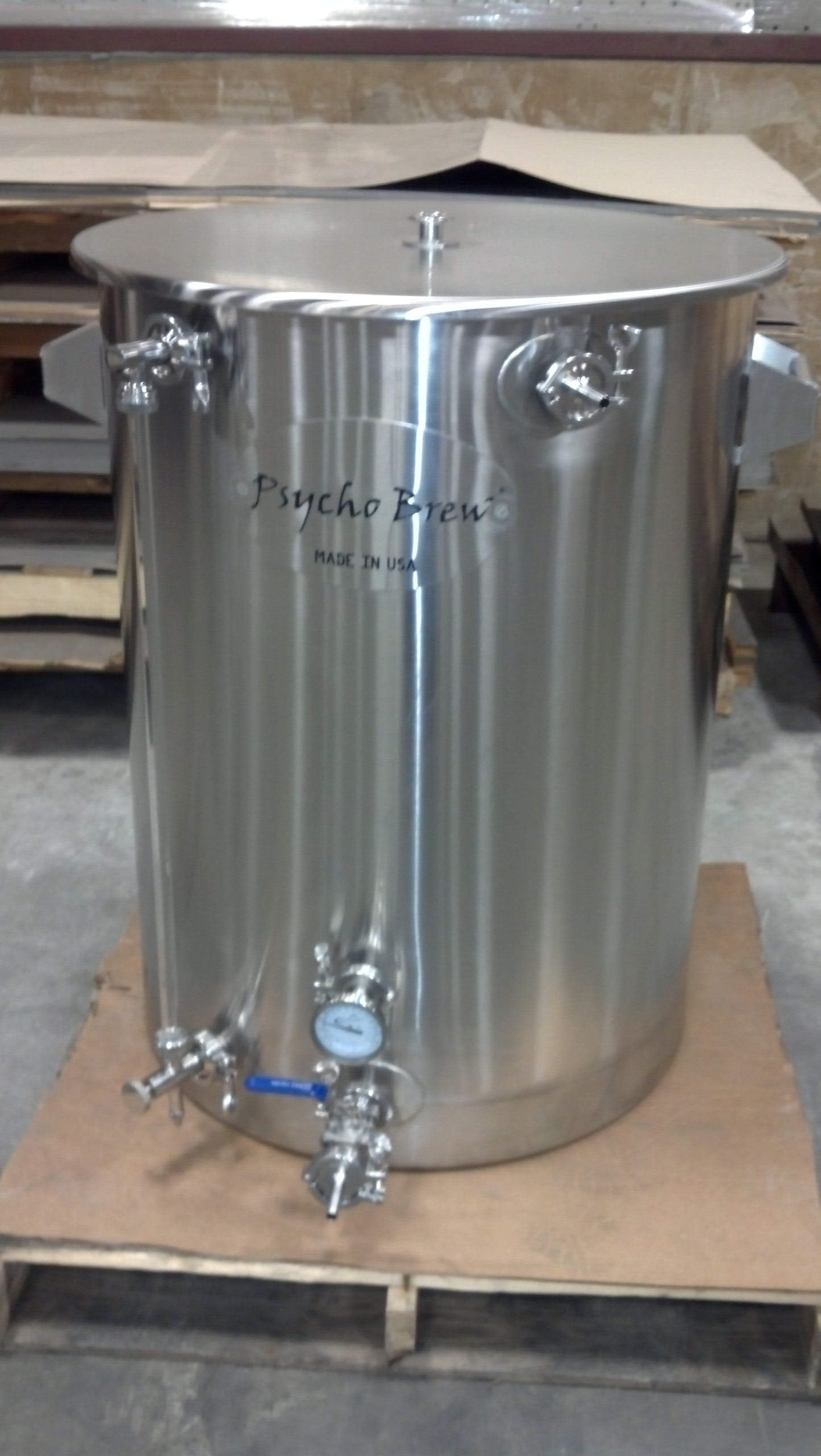 100 gallon kettle Brew pot sold by Psycho Brew