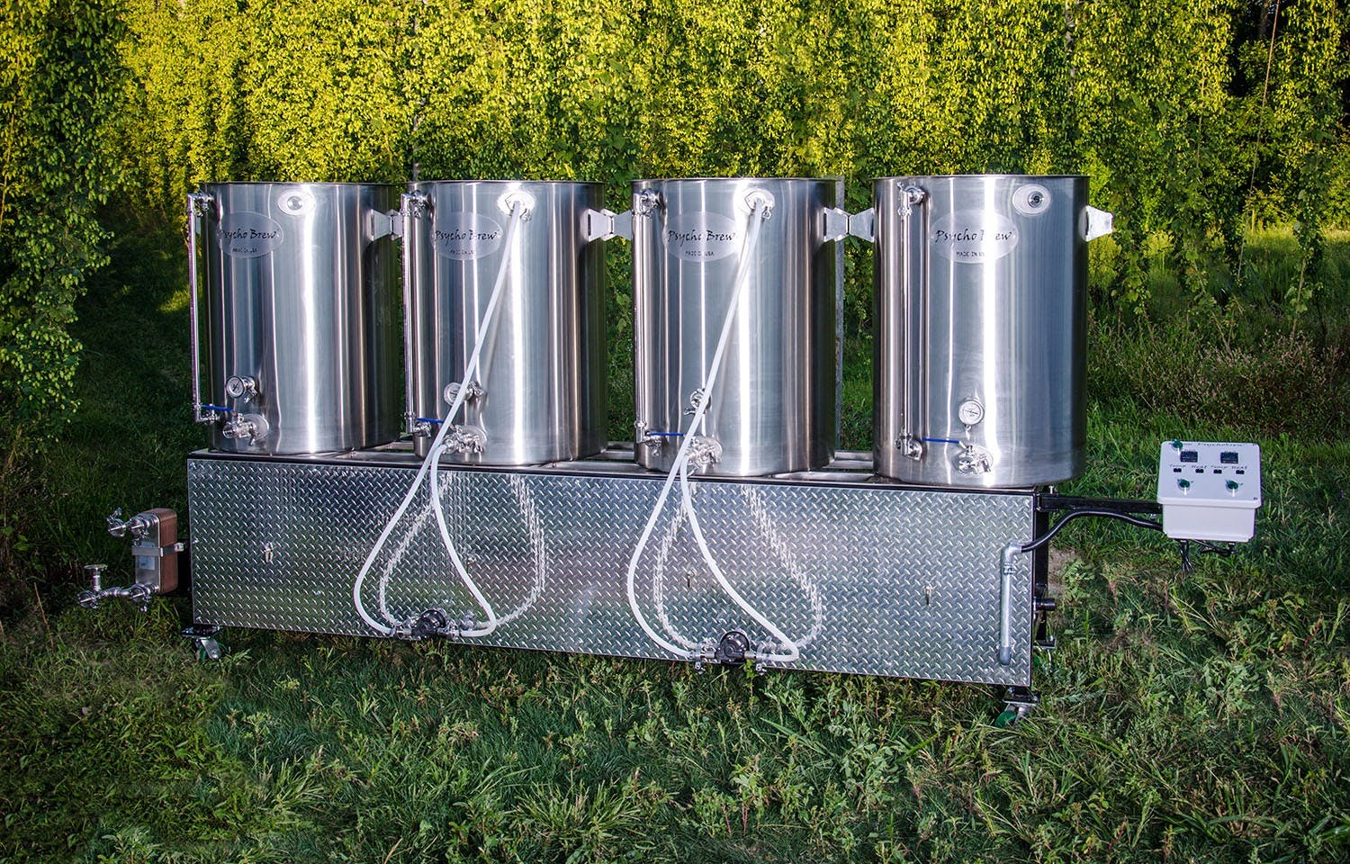 Beast 100 5 bbl 4 burner complete pilot brew system - sold by Psycho Brew