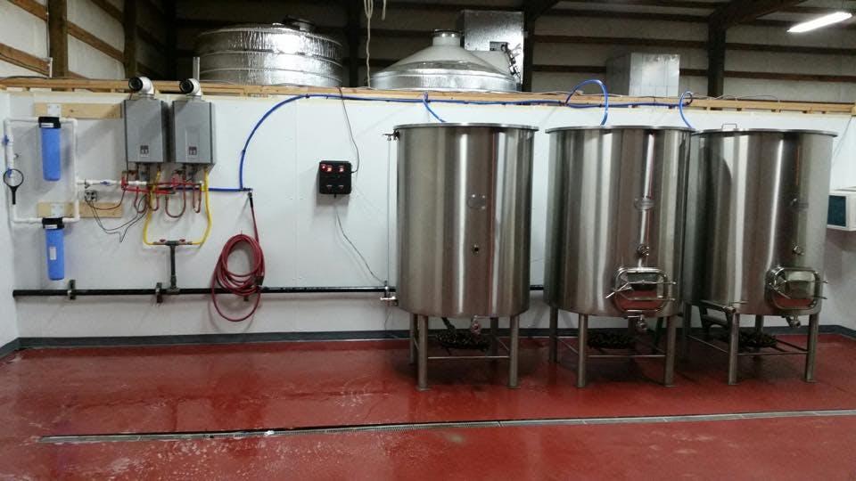 10 BBL Brewhouse sold by Custom Built Brewing
