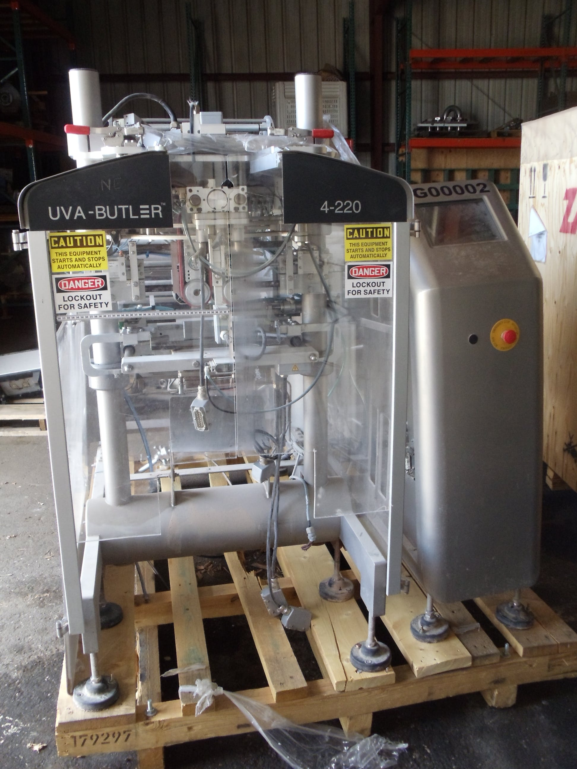 UVA-Butler Model 4-220 Form, Fill & Seal Bagger Bag filling machine sold by Smith Food Machinery Inc.