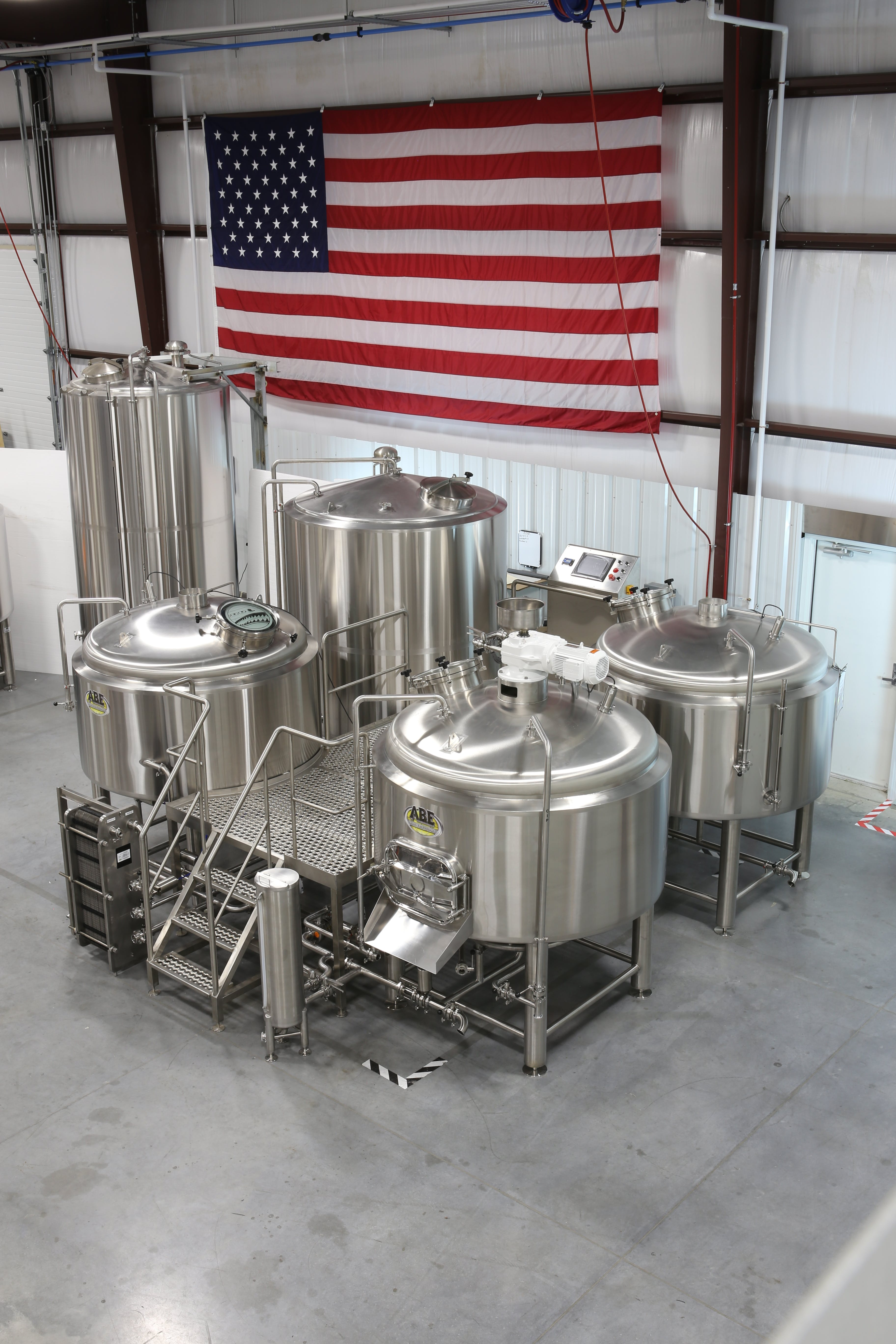 4-Vessel Brewhouse Brewhouse sold by American Beer Equipment