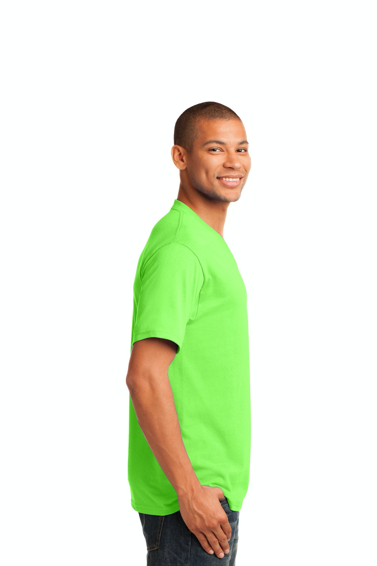 Port & Company® Core Cotton V-Neck Tee - sold by PRINT CITY GRAPHICS, INC