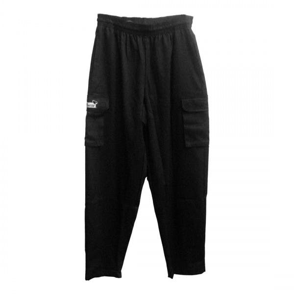 2XL Black Cargo Style Chef Pants