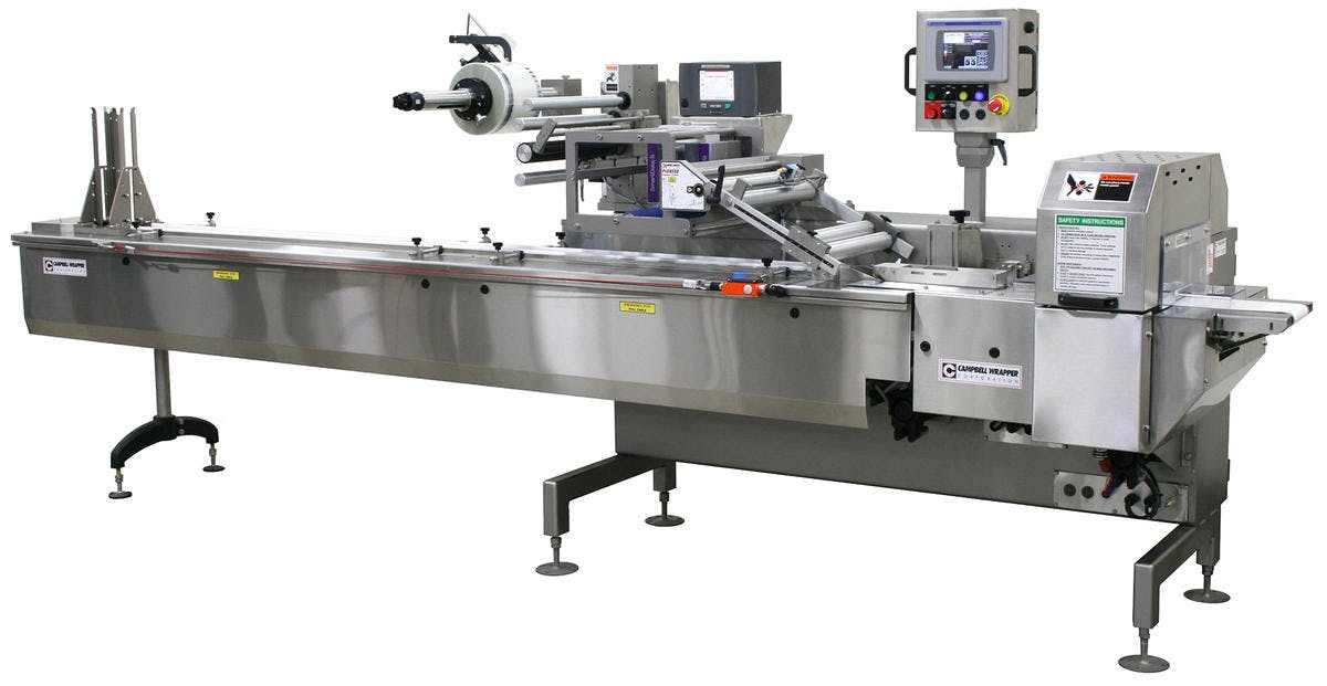 Campbell Wrapper - Horizontal Flow Wrappers Flow wrapper sold by Package Devices LLC