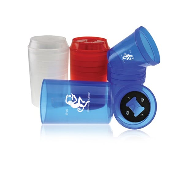 Stackable Cups w/ Bottle Opener Plastic cup sold by MicrobrewMarketing.com