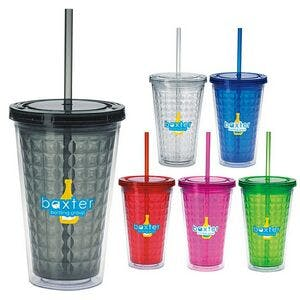 Good Value 18 Oz. Double Wall Diamond Pattern Tumbler Plastic cup sold by Dechan, Inc. II