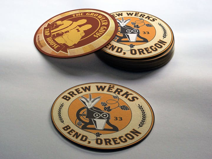 Round Coasters Drink coaster sold by Cascade Graphics