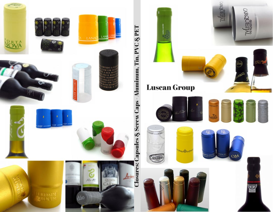 Closures: Capsules and Screw Caps - Made in Portugal Cork sold by Luscan Group
