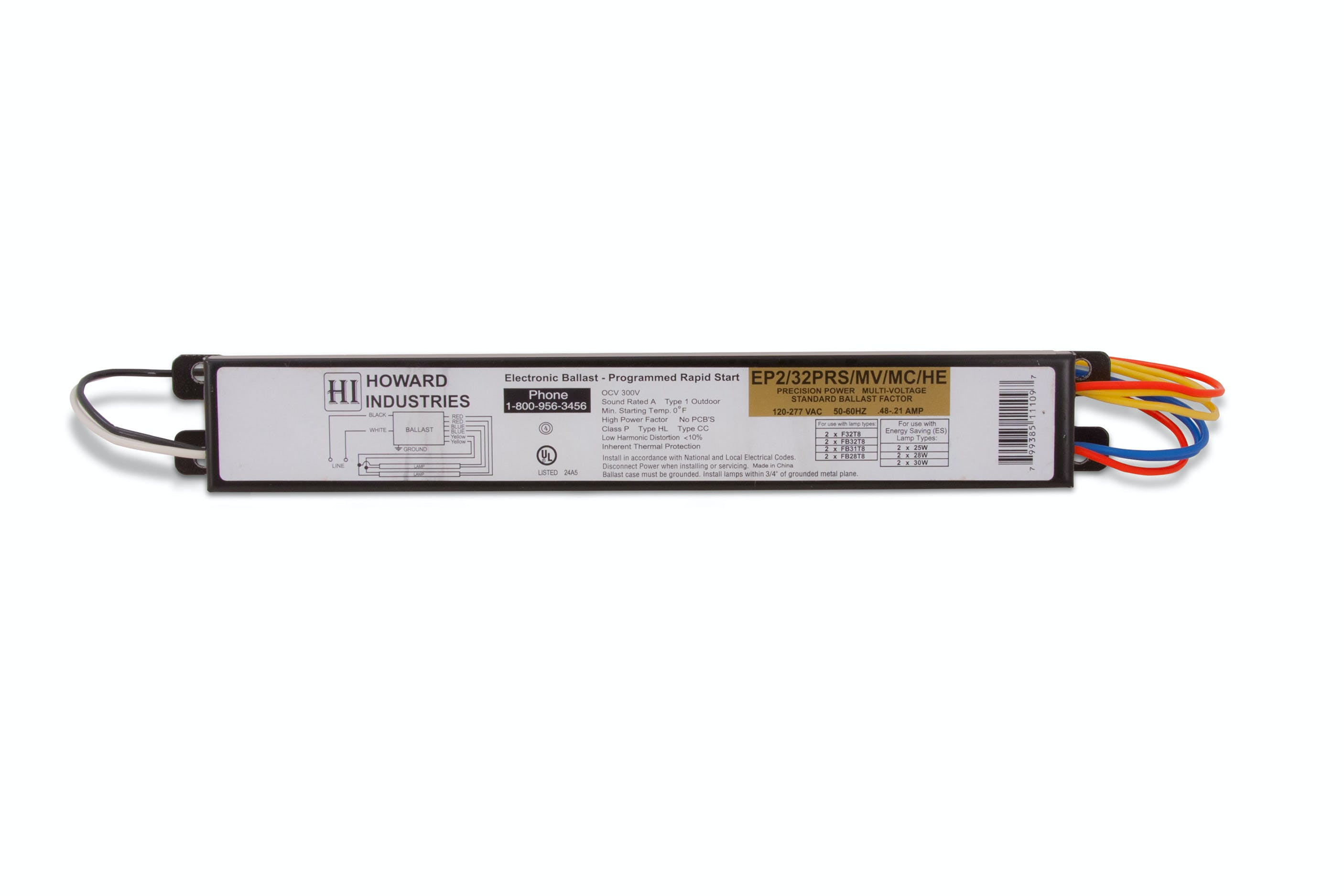 2 Lamp F32T8 Electronic Fluorescent Ballast - EP2/32PRS/MV/MC/HE - sold by RelightDepot.com