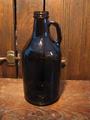 32 oz. Handled Amber Growler Growler sold by Promotional Concepts of Wisconsin