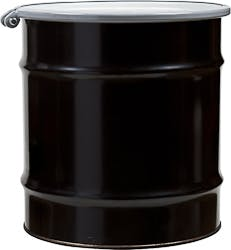20 Gallon Open Head Lined Steel Drum with Cover and Bolt Ring, Epoxy Phenolic Lining, UN Rated Drum sold by The Cary Company