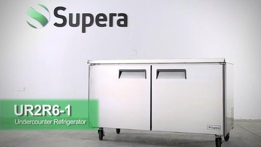 "Supera - UR2R6-1 60"" 2-Door Undercounter Refrigerator Commercial refrigerator sold by Food Service Warehouse"