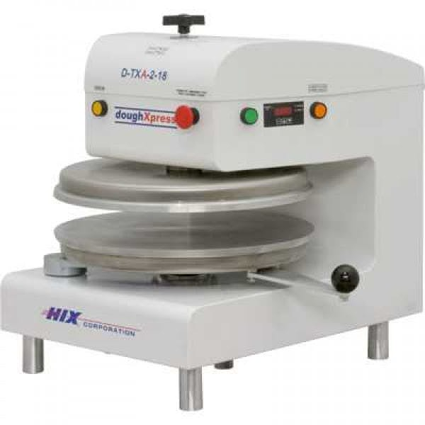 "18"" White Stainless Automatic Pneumatic Dough Press"