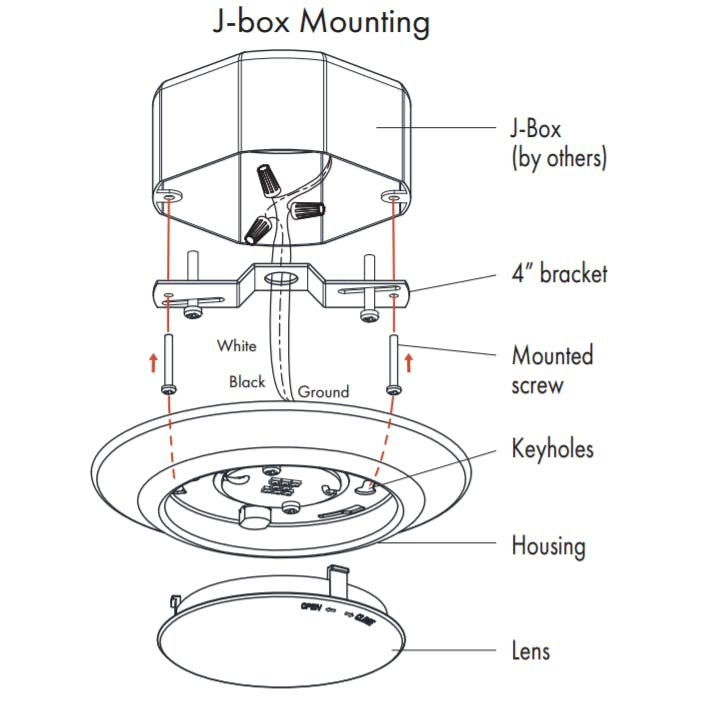 """5-6"""" Disk Light Ceiling Dome with Optional Recessed Can Mounting Kits - sold by RelightDepot.com"""