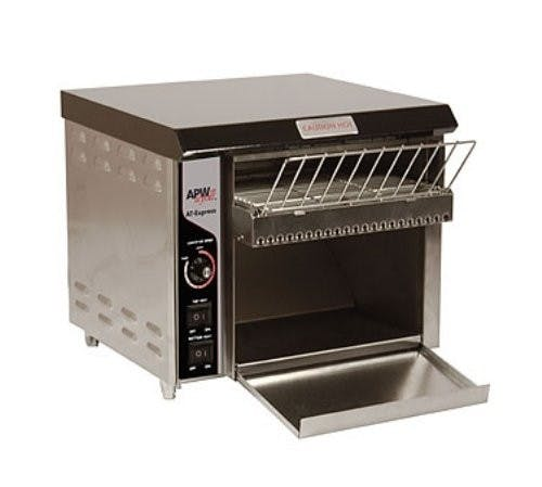 APW Wyott AT EXPRESS Conveyor Toaster, 300 Slice Per Hour Commercial toaster sold by Mission Restaurant Supply