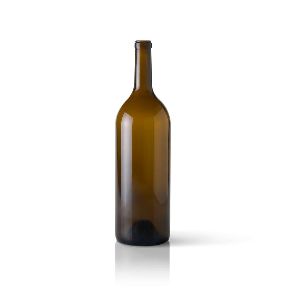 1.5 liter Antique Green Glass Claret Wine Bottle Wine bottle sold by Packaging Options Direct