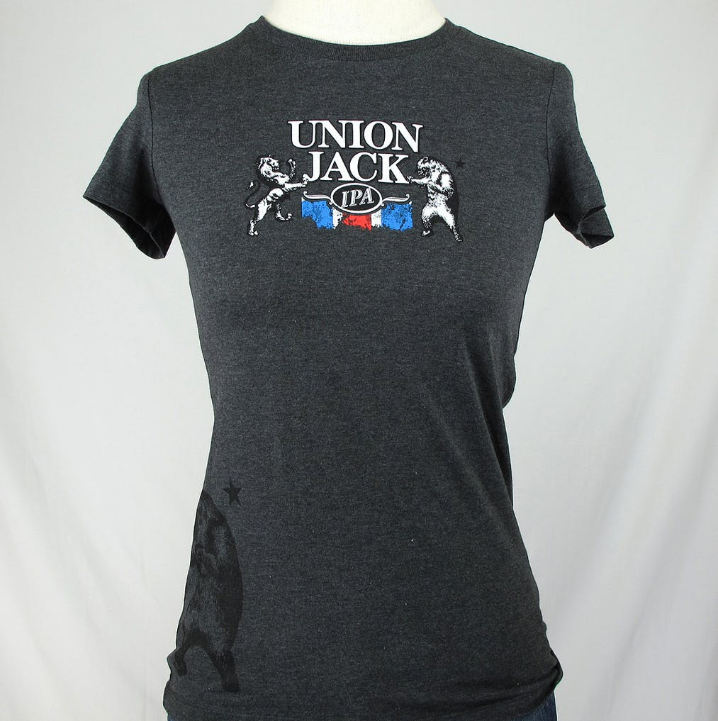 LADIES blended crew neck tee - Firestone Walker Union Jack Promotional shirt sold by Brewery Outfitters