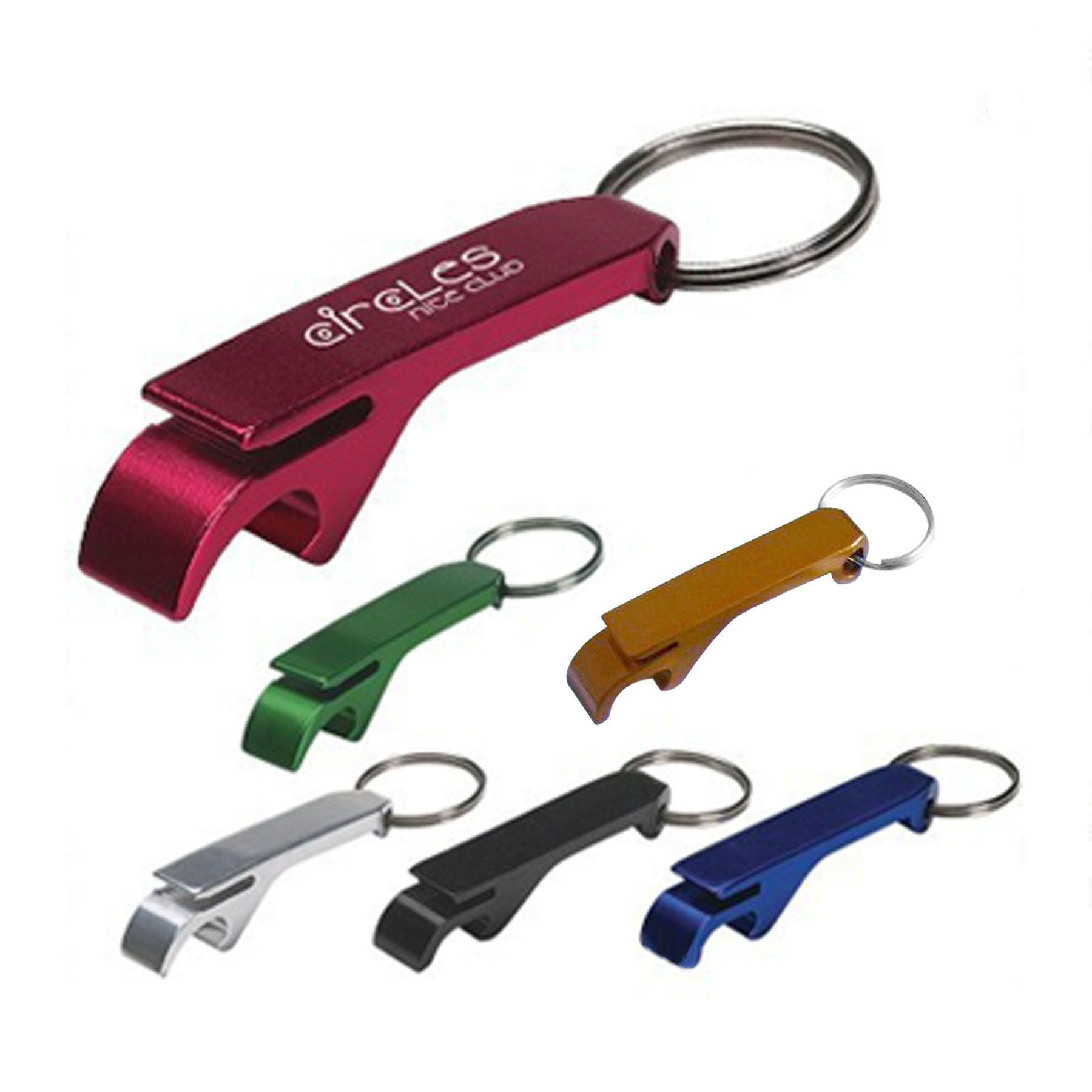 Bottle Opener with key ring Promotional keychain sold by Ink Splash Promos, LLC