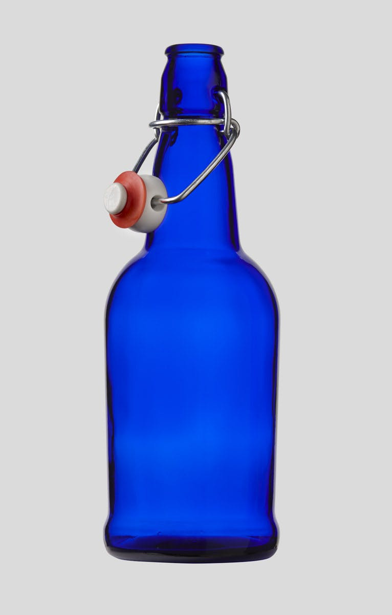 500ml/16oz Cobalt Blue E.Z.Cap Swing/Flip Top Bottle Glass bottle sold by E.Z. Cap