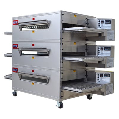 EDGE 2460 Series Triple-Stack Gas Conveyor Pizza Oven Commercial oven sold by Pizza Solutions