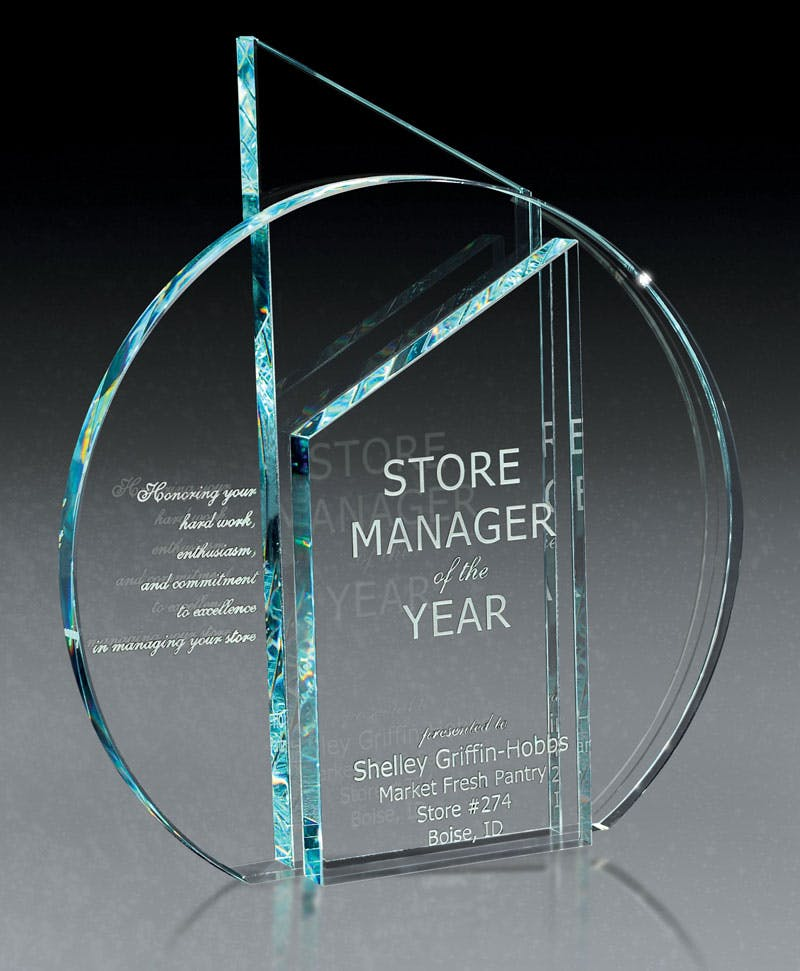 European Starphire Glass Award Award sold by Distrimatics, USA