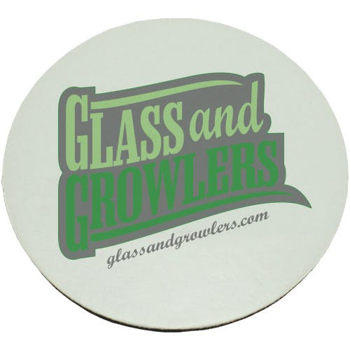 Full Color Circle Coasters (Medium Weight 55pt) | Glass and Growlers Drink coaster sold by Glass and Growlers