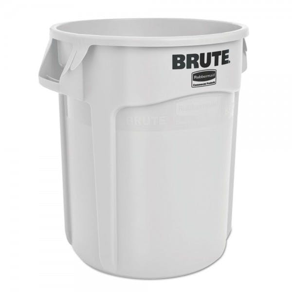 Brute® 20 gal. White Round Plastic Trash Can