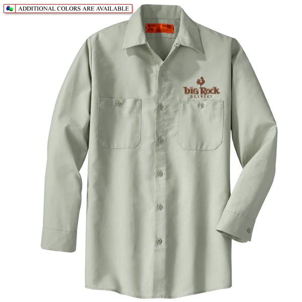 Cornerstone Industrial Work Shirt - Long Sleeve Promotional shirt sold by MicrobrewMarketing.com