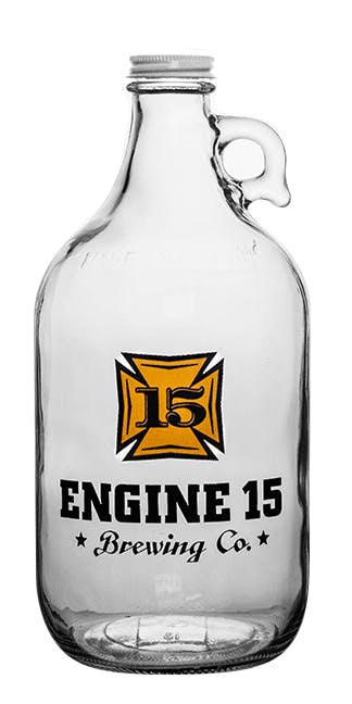 64-CLR 64oz Clear Growler Growler sold by Branded Brewsky