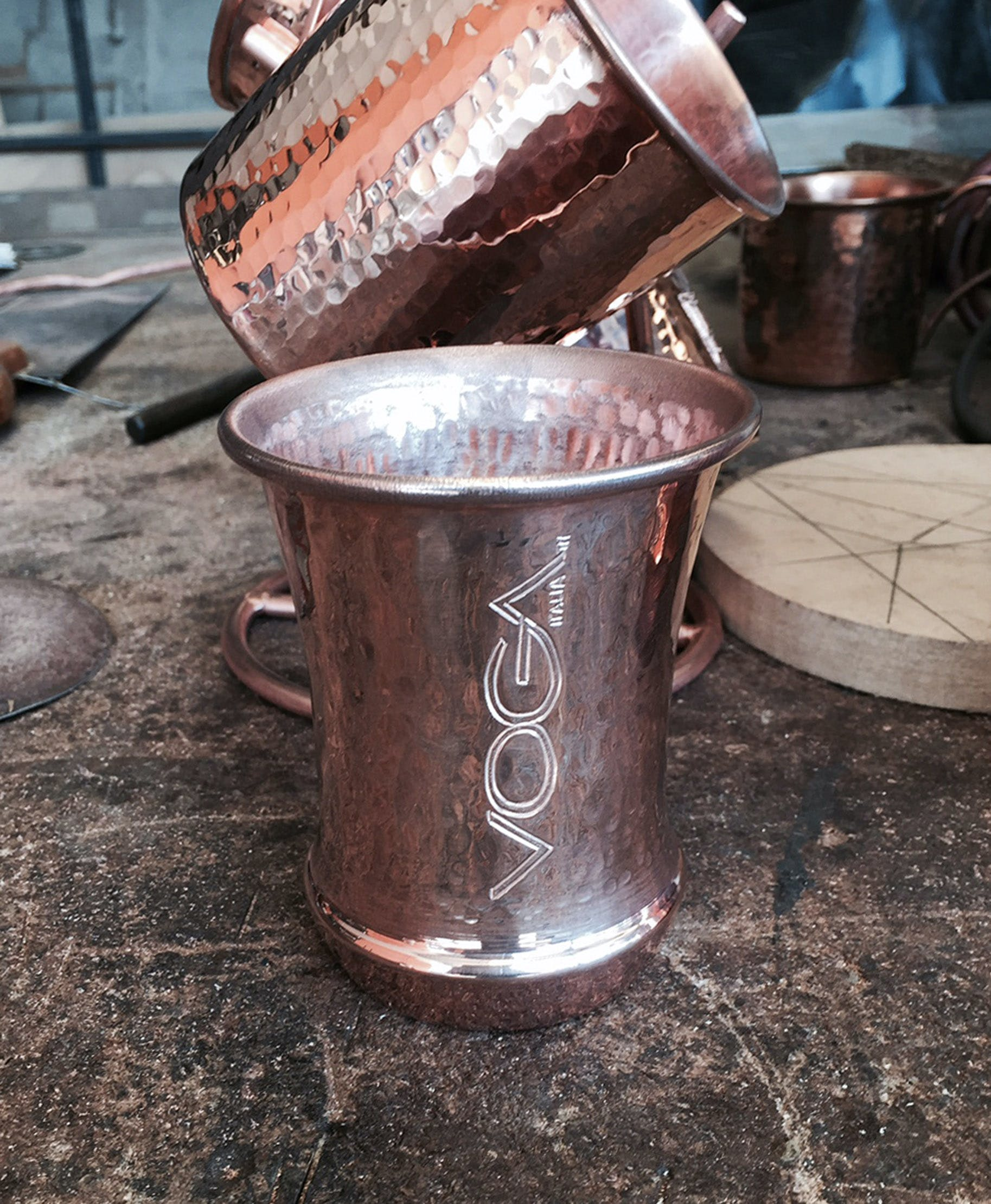 Copper Wine Mugs Copper mug sold by Hammered Mules