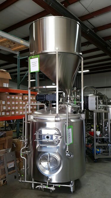Mounted Grist Hoppers Malt handling equipment sold by Alpha Brewing Operations