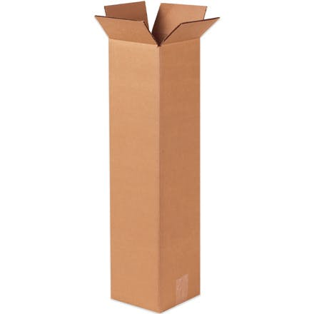 Tall Kraft Corrugated Boxes Kraft packaging sold by Ameripak, Inc.