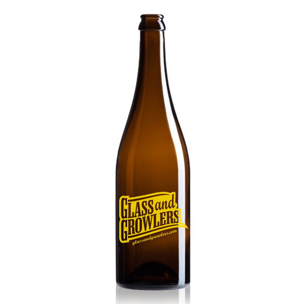 Burgundy Amber Bottle w/ Swing Top 750 ml Growler sold by Glass and Growlers
